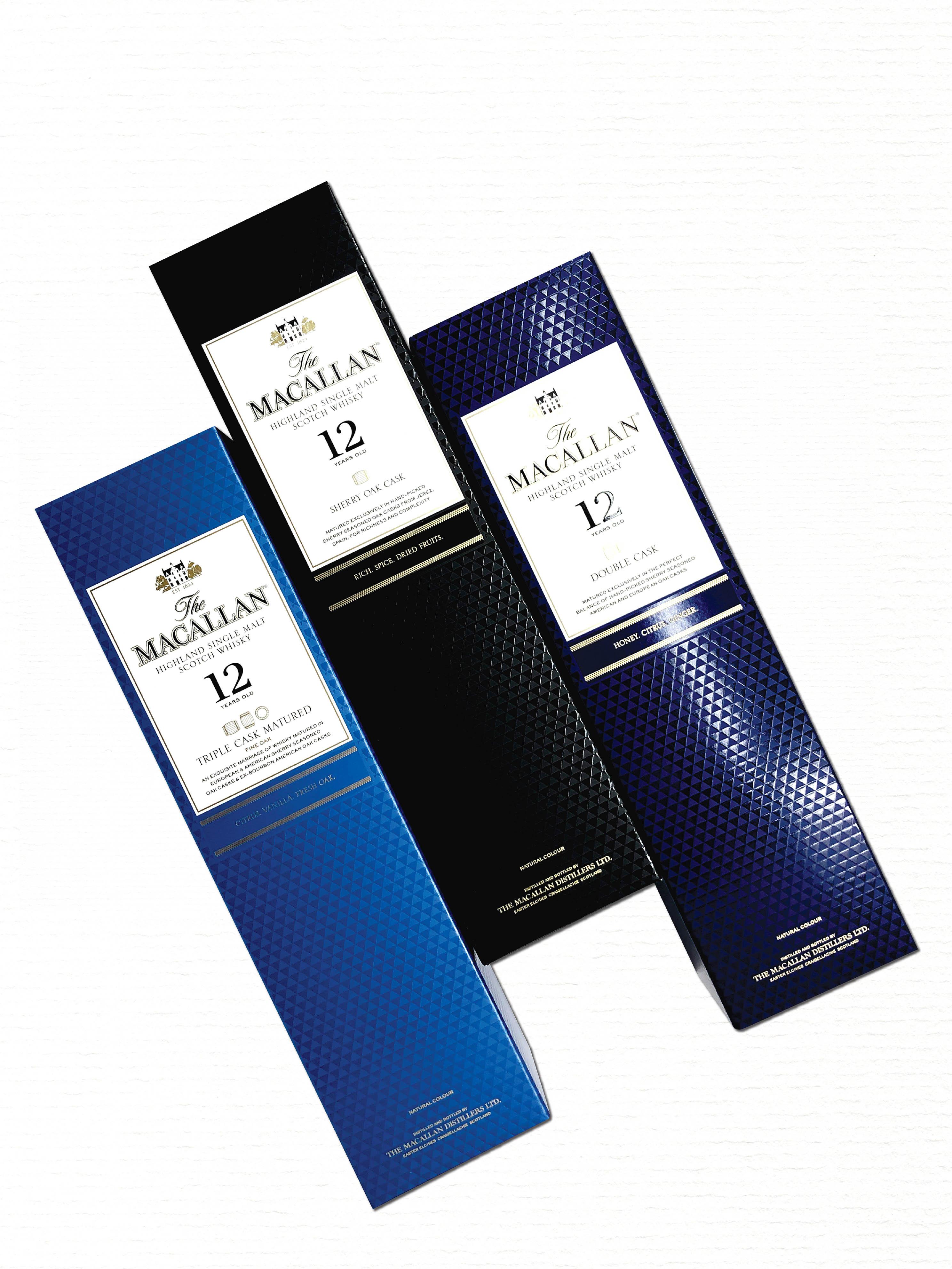 The Macallan 12YO Cask Combo (One bottle each of Sherry Oak/Double Cask/Triple Cask)